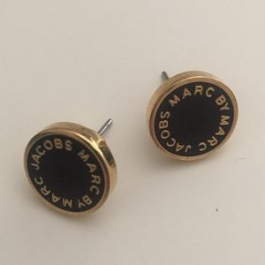 Marc Jacobs Black/Gold Small Studs